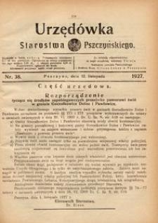 Urzędówka Starostwa Pszczyńskiego, 1927, nr 38