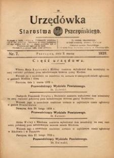 Urzędówka Starostwa Pszczyńskiego, 1928, nr 7
