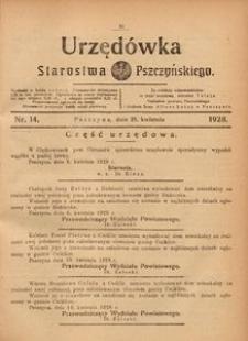 Urzędówka Starostwa Pszczyńskiego, 1928, nr 14