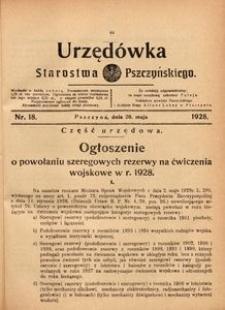 Urzędówka Starostwa Pszczyńskiego, 1928, nr 18