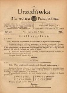 Urzędówka Starostwa Pszczyńskiego, 1928, nr 23