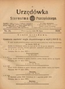 Urzędówka Starostwa Pszczyńskiego, 1928, nr 25
