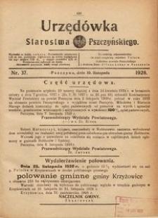 Urzędówka Starostwa Pszczyńskiego, 1928, nr 37
