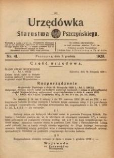 Urzędówka Starostwa Pszczyńskiego, 1928, nr 41