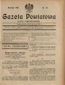 Gazeta Powiatowa Powiatu Świętochłowickiego, 1931, nr 27