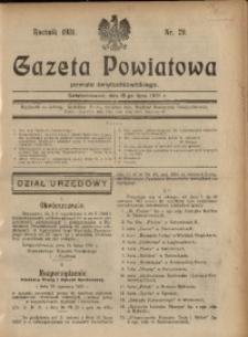 Gazeta Powiatowa Powiatu Świętochłowickiego, 1931, nr 29