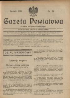Gazeta Powiatowa Powiatu Świętochłowickiego, 1931, nr 34