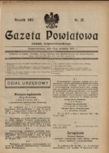 Gazeta Powiatowa Powiatu Świętochłowickiego, 1931, nr 37