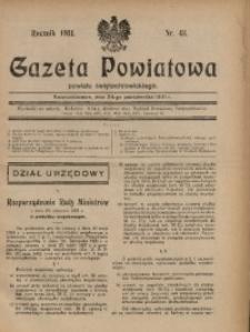 Gazeta Powiatowa Powiatu Świętochłowickiego, 1931, nr 43