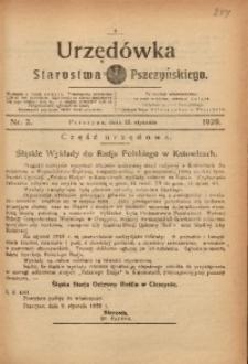 Urzędówka Starostwa Pszczyńskiego, 1929, nr 2