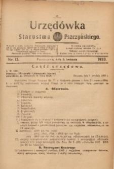 Urzędówka Starostwa Pszczyńskiego, 1929, nr 13