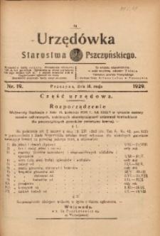 Urzędówka Starostwa Pszczyńskiego, 1929, nr 19