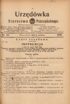 Urzędówka Starostwa Pszczyńskiego, 1929, nr 22