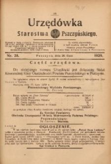 Urzędówka Starostwa Pszczyńskiego, 1929, nr 28
