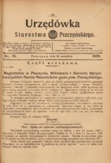 Urzędówka Starostwa Pszczyńskiego, 1929, nr 35