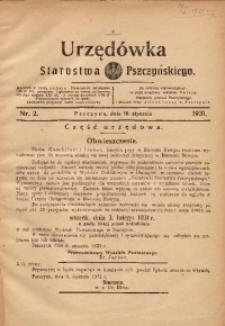 Urzędówka Starostwa Pszczyńskiego, 1931, nr 2