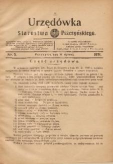 Urzędówka Starostwa Pszczyńskiego, 1931, nr 5