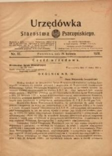 Urzędówka Starostwa Pszczyńskiego, 1931, nr 17