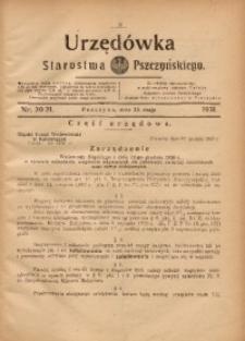 Urzędówka Starostwa Pszczyńskiego, 1931, nr 20/21