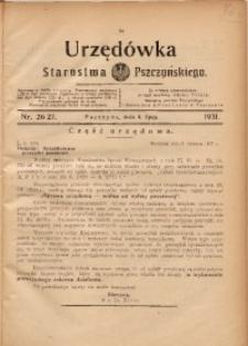 Urzędówka Starostwa Pszczyńskiego, 1931, nr 26/27