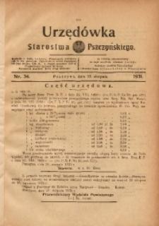 Urzędówka Starostwa Pszczyńskiego, 1931, nr 34