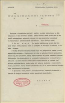Pismo Centralnego Biura Ewidencyjno-Werbunkowego Departamentu Wojskowego NKN w sprawie wydanej drukiem listy strat - 29.06.1915