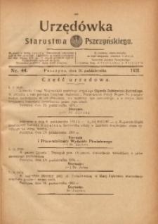 Urzędówka Starostwa Pszczyńskiego, 1931, nr 44
