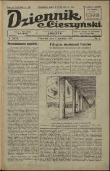 Dziennik Cieszyński, 1929, Nry 1-3, 5-69, 71, 73-76, 79-81, 83-90, 93-98, 100-111, 114-115