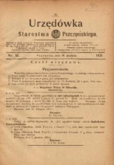 Urzędówka Starostwa Pszczyńskiego, 1931, nr 51