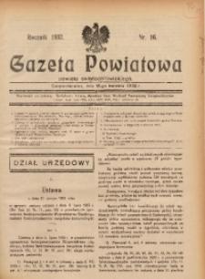 Gazeta Powiatowa Powiatu Świętochłowickiego, 1932, nr 16