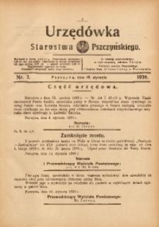 Urzędówka Starostwa Pszczyńskiego, 1936, nr3