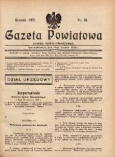 Gazeta Powiatowa Powiatu Świętochłowickiego, 1932, nr 33