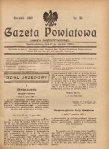 Gazeta Powiatowa Powiatu Świętochłowickiego, 1932, nr 35
