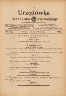 Urzędówka Starostwa Pszczyńskiego, 1932, nr 12