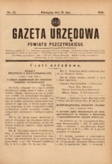 Gazeta Urzędowa Powiatu Pszczyńskiego, 1936, nr22