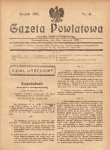 Gazeta Powiatowa Powiatu Świętochłowickiego, 1932, nr 47