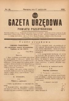 Gazeta Urzędowa Powiatu Pszczyńskiego, 1936, nr42