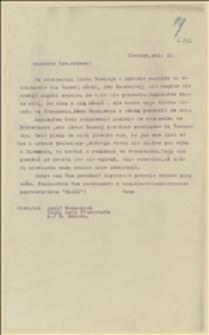 Odpowiedź Tadeusza Regera na list Adolfa Recmanika z Tichej koło Frensztatu, opisujący starania o zasiłek dla córki Ewy Zuczkowej - 21.04.1915