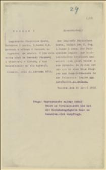 Rozkaz służbowy podróży dla legionisty Stanisława Knotza do Komendy Etapowej i Zbiorczej w Kętach - 22.04.1915