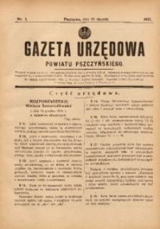 Gazeta Urzędowa Powiatu Pszczyńskiego, 1937, nr3