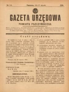 Gazeta Urzędowa Powiatu Pszczyńskiego, 1938, nr3/4