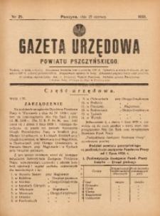 Gazeta Urzędowa Powiatu Pszczyńskiego, 1938, nr25