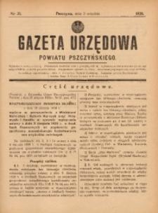 Gazeta Urzędowa Powiatu Pszczyńskiego, 1938, nr35