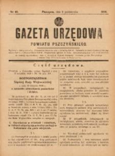 Gazeta Urzędowa Powiatu Pszczyńskiego, 1938, nr40