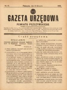 Gazeta Urzędowa Powiatu Pszczyńskiego, 1938, nr47
