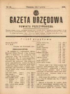 Gazeta Urzędowa Powiatu Pszczyńskiego, 1938, nr48