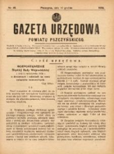 Gazeta Urzędowa Powiatu Pszczyńskiego, 1938, nr49