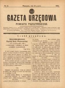 Gazeta Urzędowa Powiatu Pszczyńskiego, 1938, nr51
