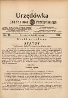 Urzędówka Starostwa Pszczyńskiego, 1932, nr 33