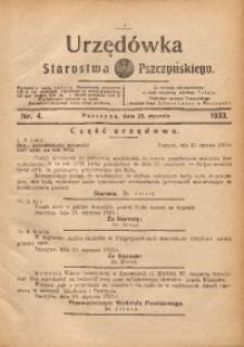 Urzędówka Starostwa Pszczyńskiego, 1933, nr4